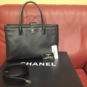 Authentic NWT Chanel Executive Cerf Tote Black